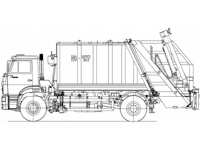 Мусоровоз с задней загрузкой КО-427-52