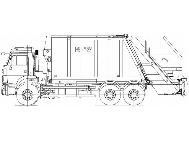Мусоровоз с задней загрузкой КО-427-03