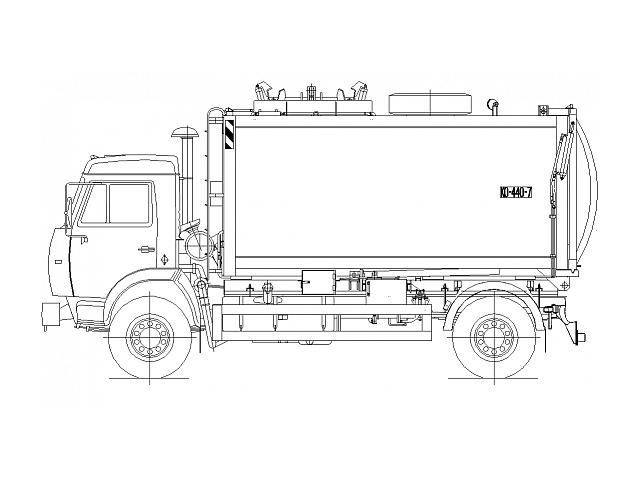 Мусоровоз с боковой загрузкой КО-440-7