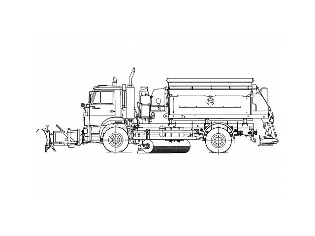 Комбинированная дорожная машина ЭД 244 КМ-24
