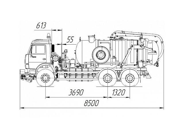Илососная машина КО-507АГ