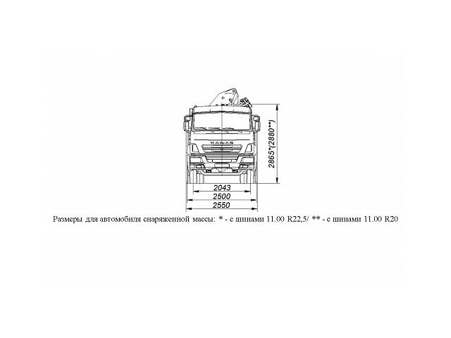 БОРТОВОЙ АВТОМОБИЛЬ С КМУ PALFINGER PK23500A НА ШАССИ KAMAZ-65117 (659000-0000002-22)