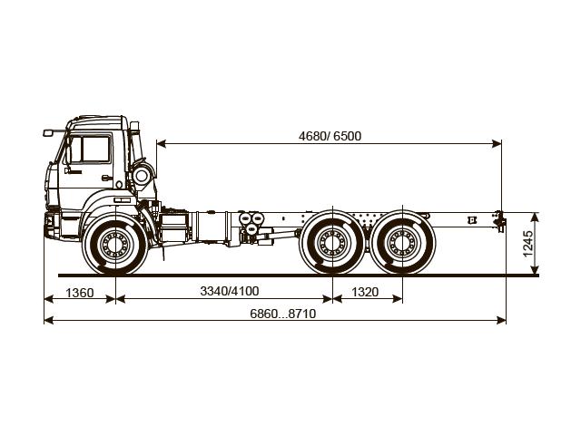 ШАССИ КАМАЗ 5350-66 (D5)