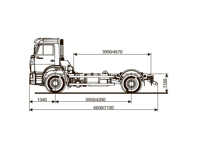 ШАССИ КАМАЗ 53605-48 (A5)