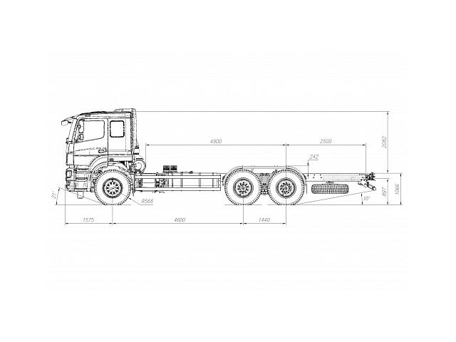 ШАССИ KAMAZ-6580-3051-68 (T5)