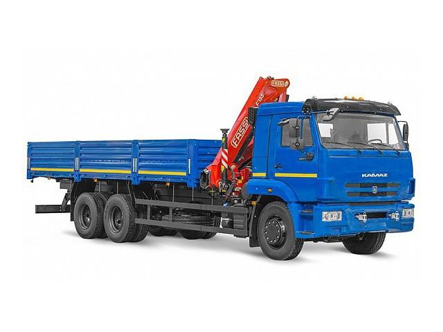 Бортовой автомобиль 6586-400-01 с КМУ FASSI F 155 A.0.22 на шасси КАМАЗ-65117