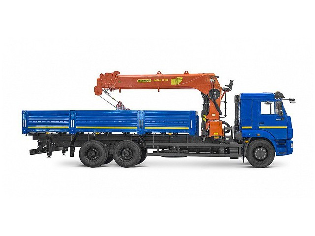 Бортовой автомобиль 6586-320-01 с КМУ PALFINGER INMAN IT-180 на шасси КАМАЗ-65117