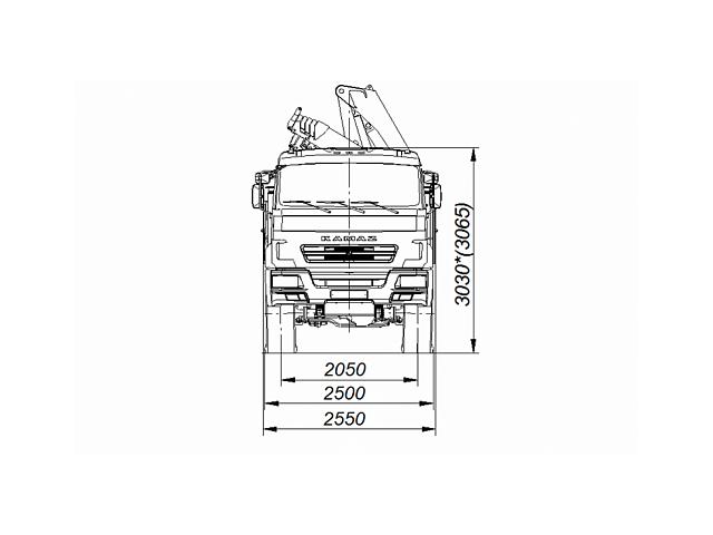 Бортовой автомобиль 65861-402-06 с КМУ FASSI F215A.0.22 на шасси КАМАЗ-43118