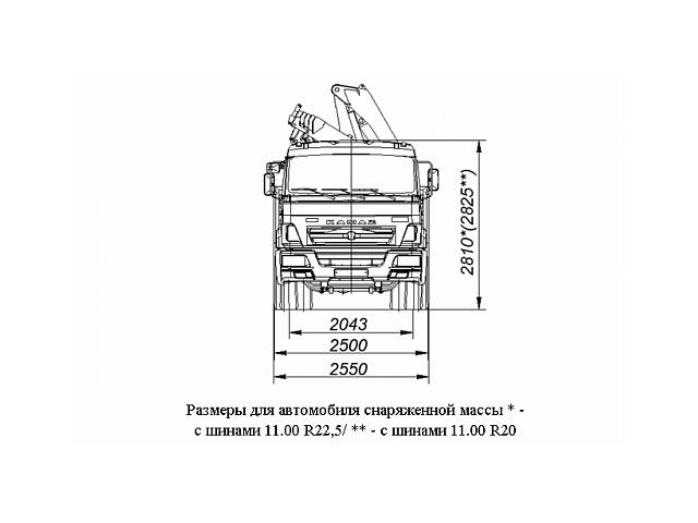 Бортовой автомобиль 6586-403-01 с КМУ FASSI F245A.0.22 на шасси КАМАЗ-65117