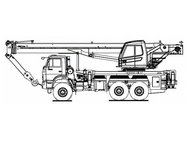Кран стреловой автомобильный КС-5573А-2