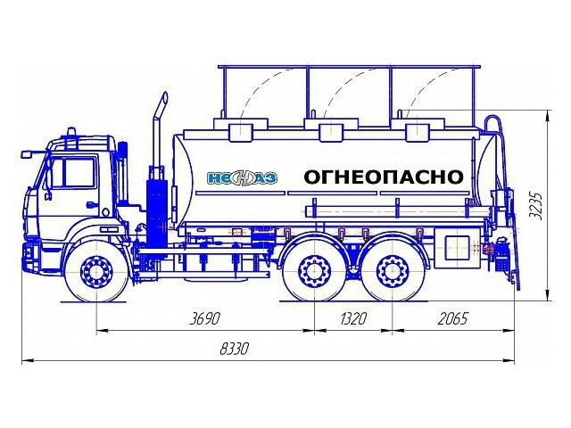 Автотопливозаправщик НЕФАЗ-66052