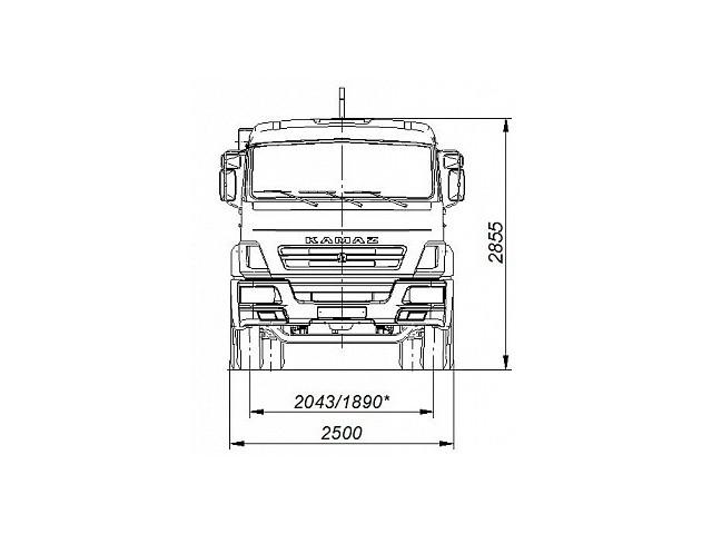 Автомобиль 658607-2030-09 c крюковым погрузчиком