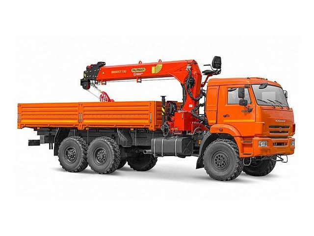 Бортовой автомобиль 65861-322-06 с КМУ PALFINGER INMAN IT-150 на шасси КАМАЗ-43118