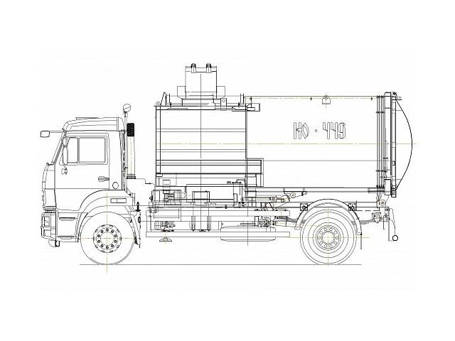 Мусоровоз с боковой загрузкой КО-449-19