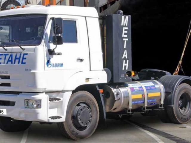 Седельный тягач KAMAZ -65116 на КПГ / СПГ