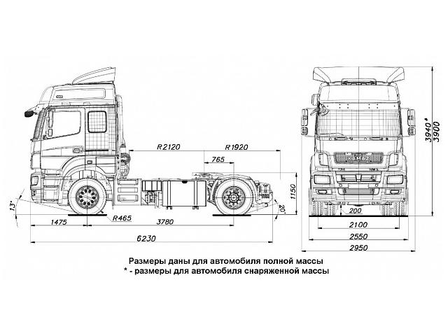ГАЗОДИЗЕЛЬНЫЙ KAMAZ-5490 NEO (КПГ)