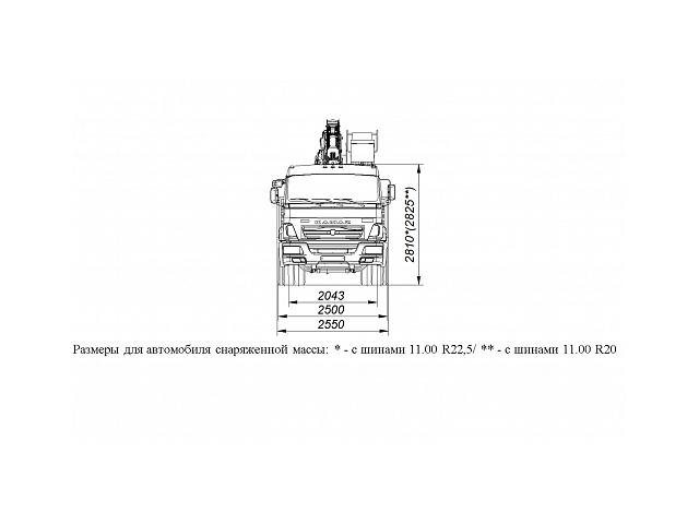 БОРТОВОЙ АВТОМОБИЛЬ С КМУ ГАЛИЧАНИН КМУ-150 НА ШАССИ KAMAZ-65117 (659000-0007000-21)