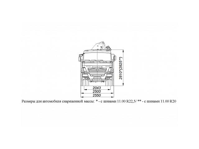 БОРТОВОЙ АВТОМОБИЛЬ С КМУ PALFINGER PK23500А НА ШАССИ KAMAZ-65115 (659000-0000002-23)