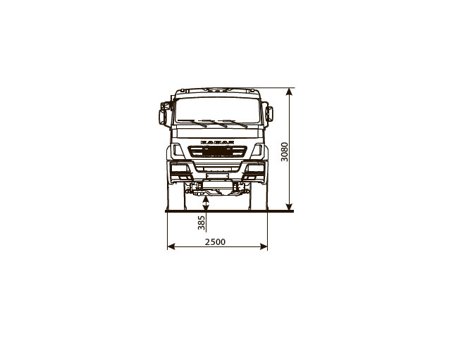 ШАССИ КАМАЗ 43502-66 (D5)