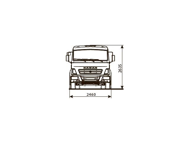 ШАССИ КАМАЗ 5308-48 (A5)