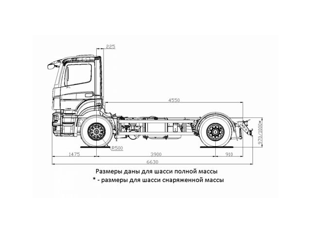 ШАССИ KAMAZ-5325-1002-69 (G5)