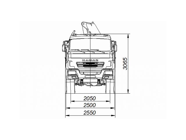 Бортовой автомобиль 65861-403-06 С КМУ FASSI F245A.0.22 на шасси КАМАЗ-43118