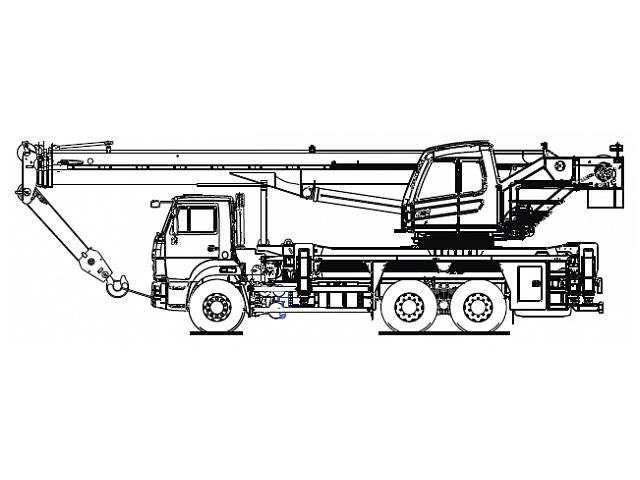 Кран стреловой автомобильный КС-5573А